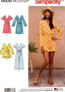 Simplicity Sewing Pattern 8608 Misses 14-22 Jumpsuit Short Romper and Wrap Dress