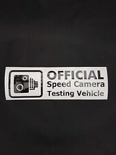 Official Speed Camera Testing Vehicle Vinyl Sticker Decal JDM Honda