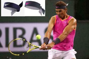 Nike Rafael Nadal Dri Fit Tie Up Swoosh Tennis Headband Indian Wel Atp Ebay