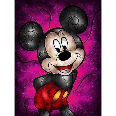 5D Diamond Painting Abstract Mickey Mouse Fuchsia Kit | eBay