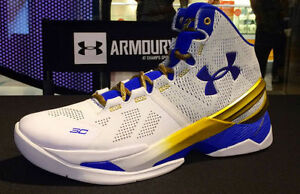 size 40 01f3c f1a09 Image is loading Under-Armour-Stephen-Curry-2-II-Gold-Rings-