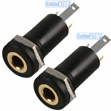 2 x 3.5mm Mini Stereo Jack Chassis Panel Mount Headphone Input Socket Connector