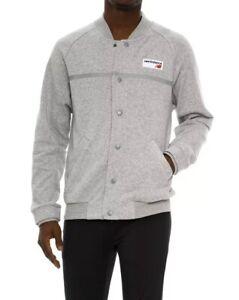 a3f291f8b12f2 New Balance Logo Athletic Fleece Jacket Men's Sz MEDIUM Button Down ...