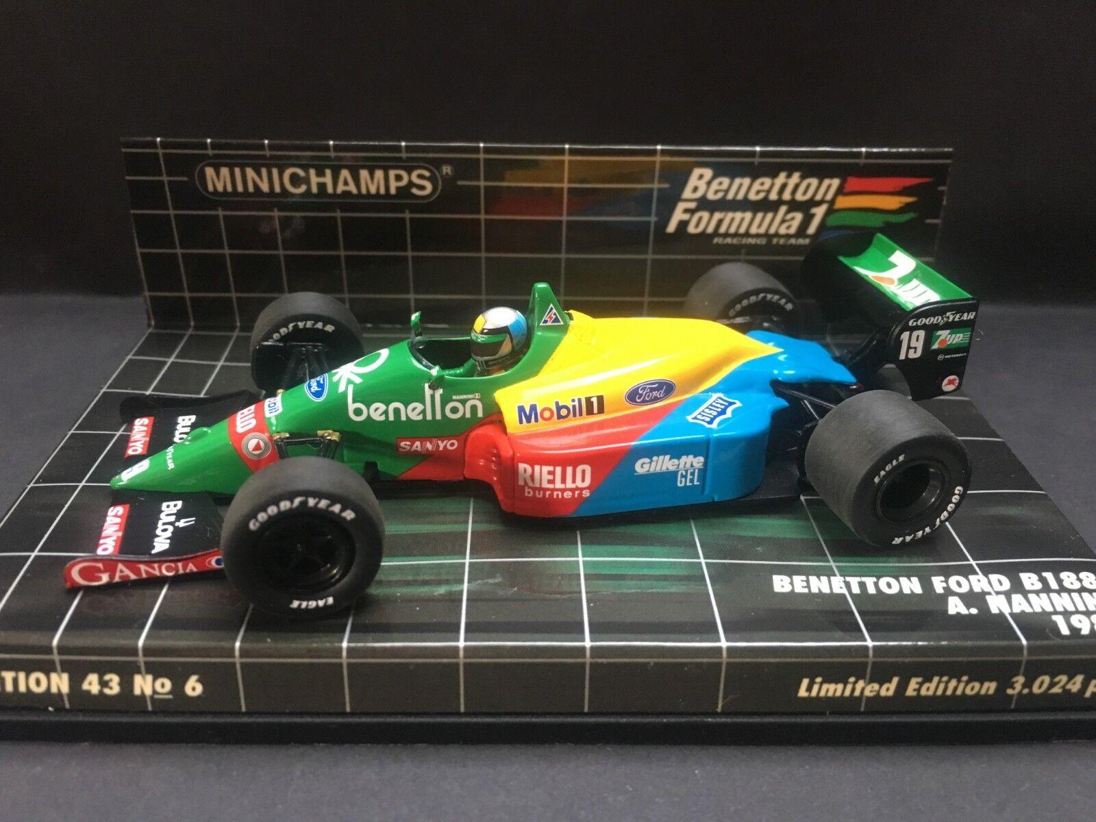 Minichamps - Alessandro Nannini - Benetton - B188 - 1 43 - 1989