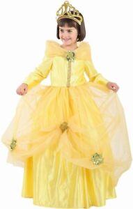 Déguisement Luxe Fille Princesse Belle 4 Ans Jaune Enfant Dessin Animé Neuf