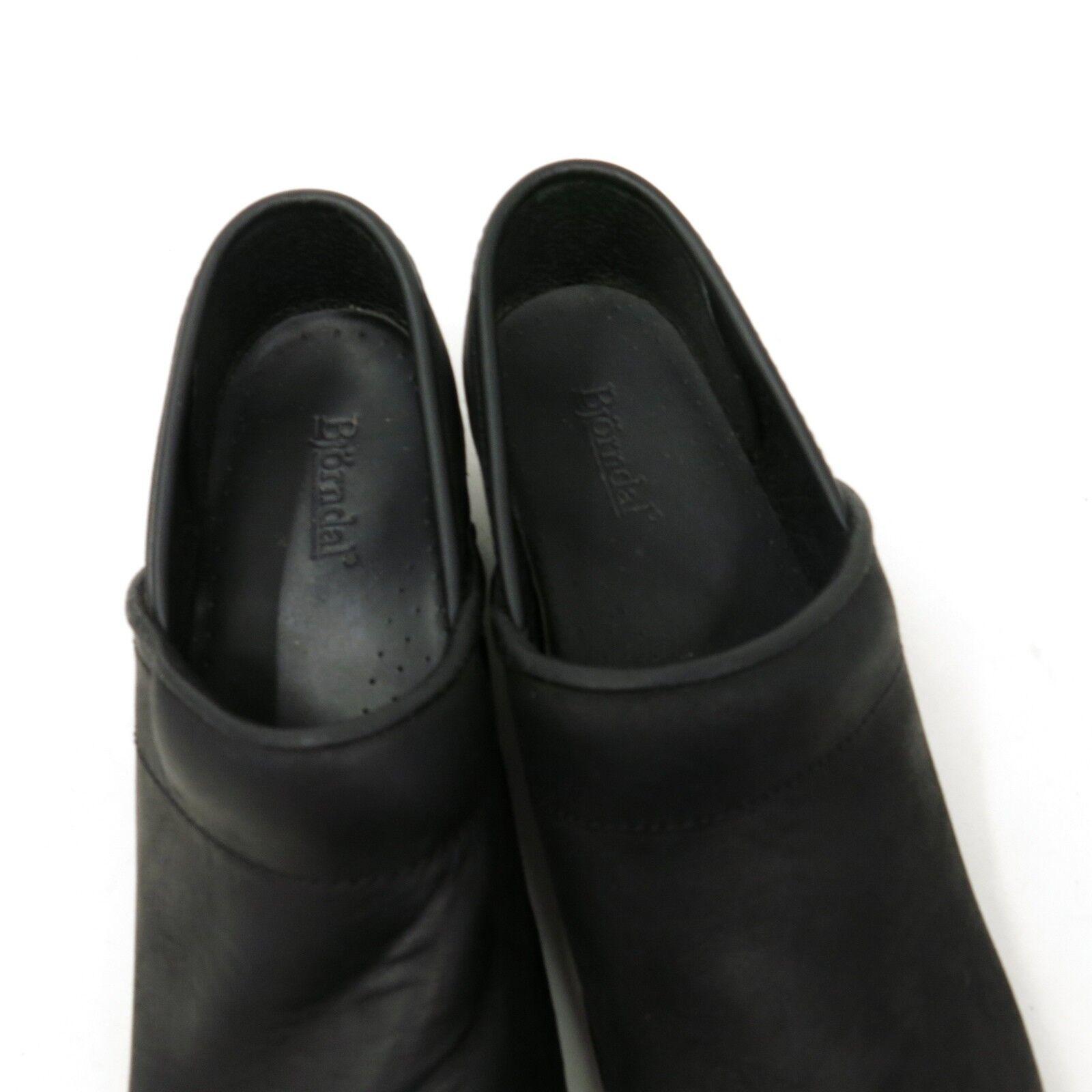 Bjorndal Ally Women's Black Slip Leather Slip Black on Professional Nurse Clogs Size 8.5 2d0f84