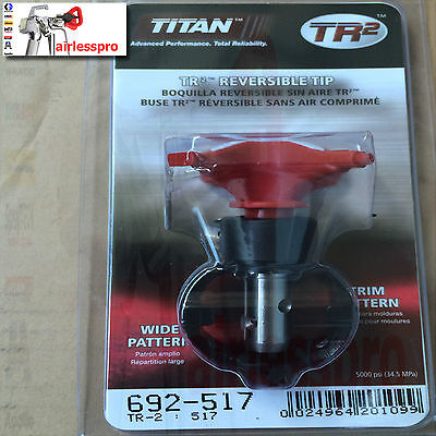 TITAN TR2 AIRLESS SPRAY GUN TIP 519 /213 TWO TIPS IN ONE FOR ALL GUNS