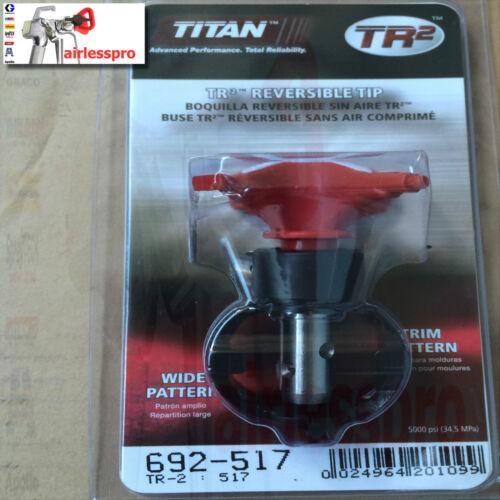 exemple photo Titan TR2 pulvérisation pistolet Astuce 519//213 deux Conseils dans un