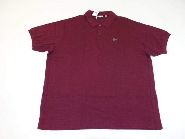 Lacoste Ph221b Men's Bordeaux Mesh Cotton Polo Shirt Big & Tall 3xlb EU 10r