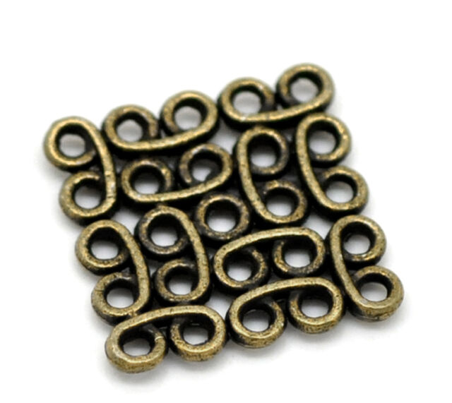 """50PCs Bronze Tone Sqare Connectors 15x15mm( 5/8""""x 5/8"""")"""