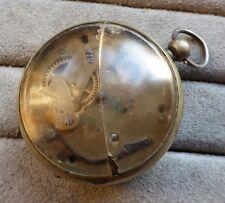 Verge pocket watch, George Oram, Edmonton. Restoration project. 48mm.