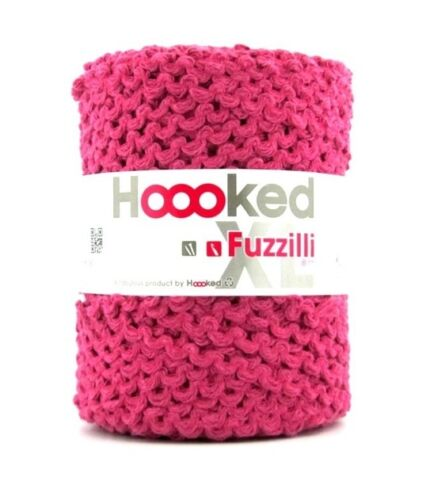 Hoooked `Fuzzilli XL Schwarz,Grau,Blau,Pink,Weiß,Braun Textilgarn` Neu Baumwolle