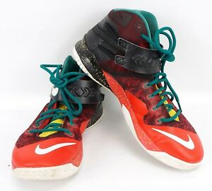 size 40 eaed9 aff61 Details about 2014 Nike Zoom Soldier VIII SZ 11m Lebron Christmas Black  White Red 688579-016