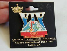 2002 WINTER OLYMPICS Salt Lake City BID PIN  on original card