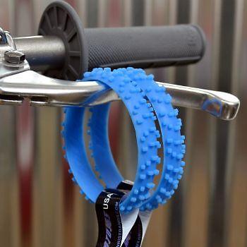 GLOW BLUE KNOBBY DIRTBIKE TIRE WRISTBAND MOTO X bracelet mx yzf yfz 125 250 450