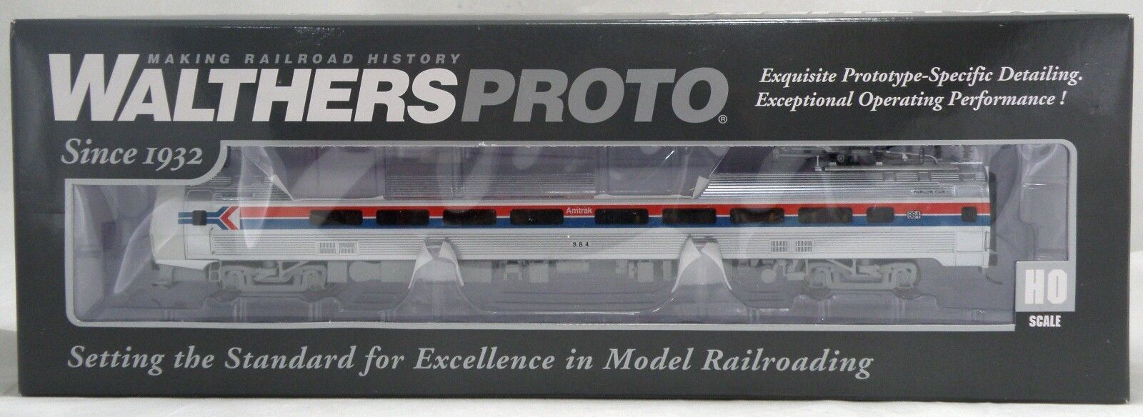 Budd Metroliner Parlor coche wsound-Amtrak Ph1  884-Walthers  920-14820
