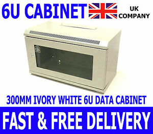 6U-19-034-White-Comms-Cabinet-Network-Data-Wall-Rack-For-Patch-Panel-Switch-amp-PDU