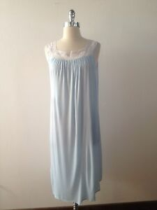 a38a688028 Vintage Blue Lace Negligee Lingerie Size M Women s 1960s Nightgown ...