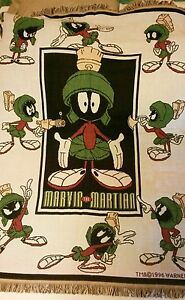 Vintage 1996 Marvin the Martian Throw Blanket