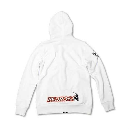 New Official Dani Pedrosa Womans White No.26 Zip Up Hoodie DPWFL 757 06