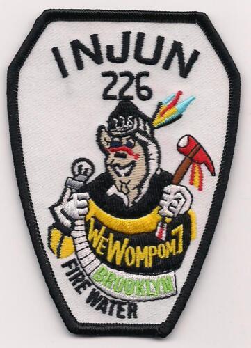 "fire patch Wompom 7/"" Engine-226  /""Brooklyn New York City 3/"" x 4/"" size"