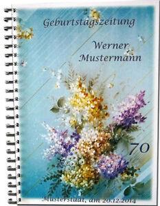 Geburtstag-s-Zeitung-Geschenk-Feier-Deko-50-55-60-65-70-75-80-85-90-95-Flieder