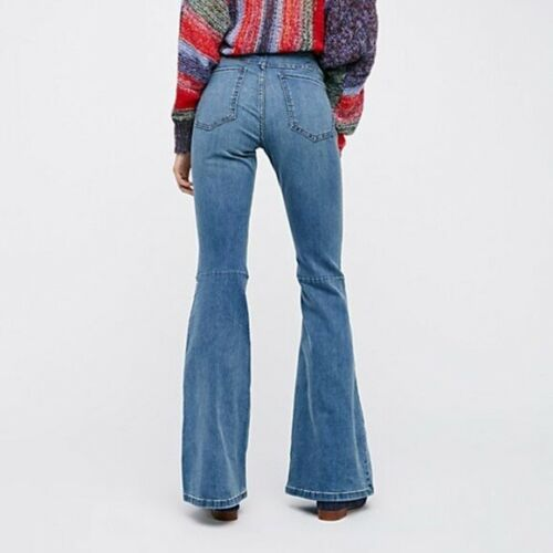NWT FREE PEOPLE Sz 26R PENNY PULL ON STRETCH FLARE