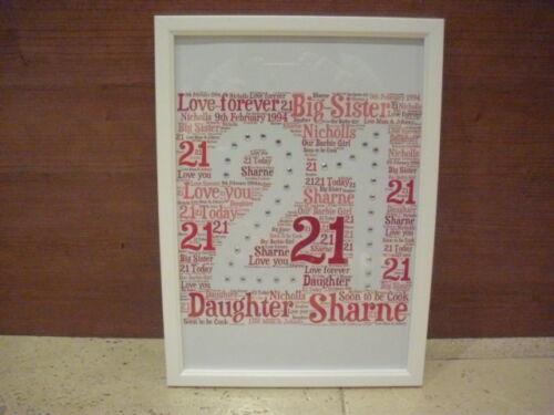 LUXURY POMERANIAN word art picture with frame mount