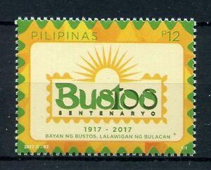 Filippine-2017-Gomma-integra-non-linguellato-BUSTOS-bulacan-100th-ANNIV-1v-Set-Francobolli-TURISMO