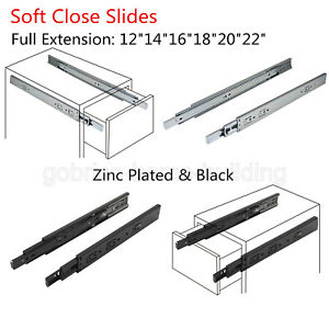 Image Is Loading Soft Close Drawer Slides Rear Side Mount Full