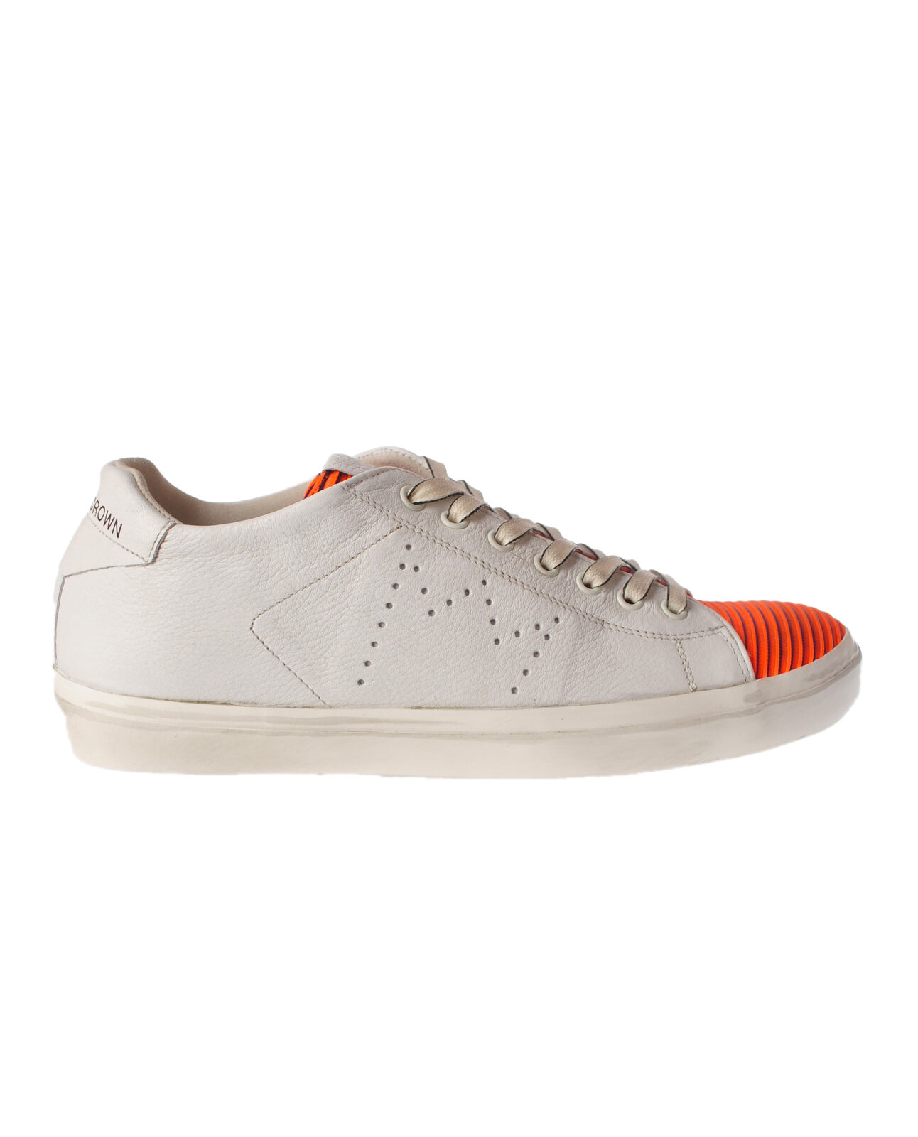 Leather Crown - scarpe-scarpe da ginnastica low - Man - bianca - 4751106C195018