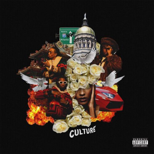 Migos Culture Rap Hip Hop Art Music Cover Print Poster 12x12 24x24 inch C-78