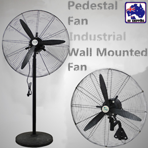 75cm Pedestal Fan Wall Mounted Industrial Floor Hanging