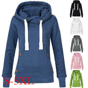 c0ebf50a0a4 Details about Women Hoodies Casual Sweatshirt Winter Ladies Loose Hooded  Jumper Coat Oversized