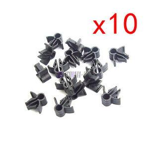10X Wire Cable Loom Routing Harness Clip Retainer 90654SA4003 ... Wiring Harness Clips Threaded Hole on trailer wiring clips, electric ford harness clips, safety harness clips,