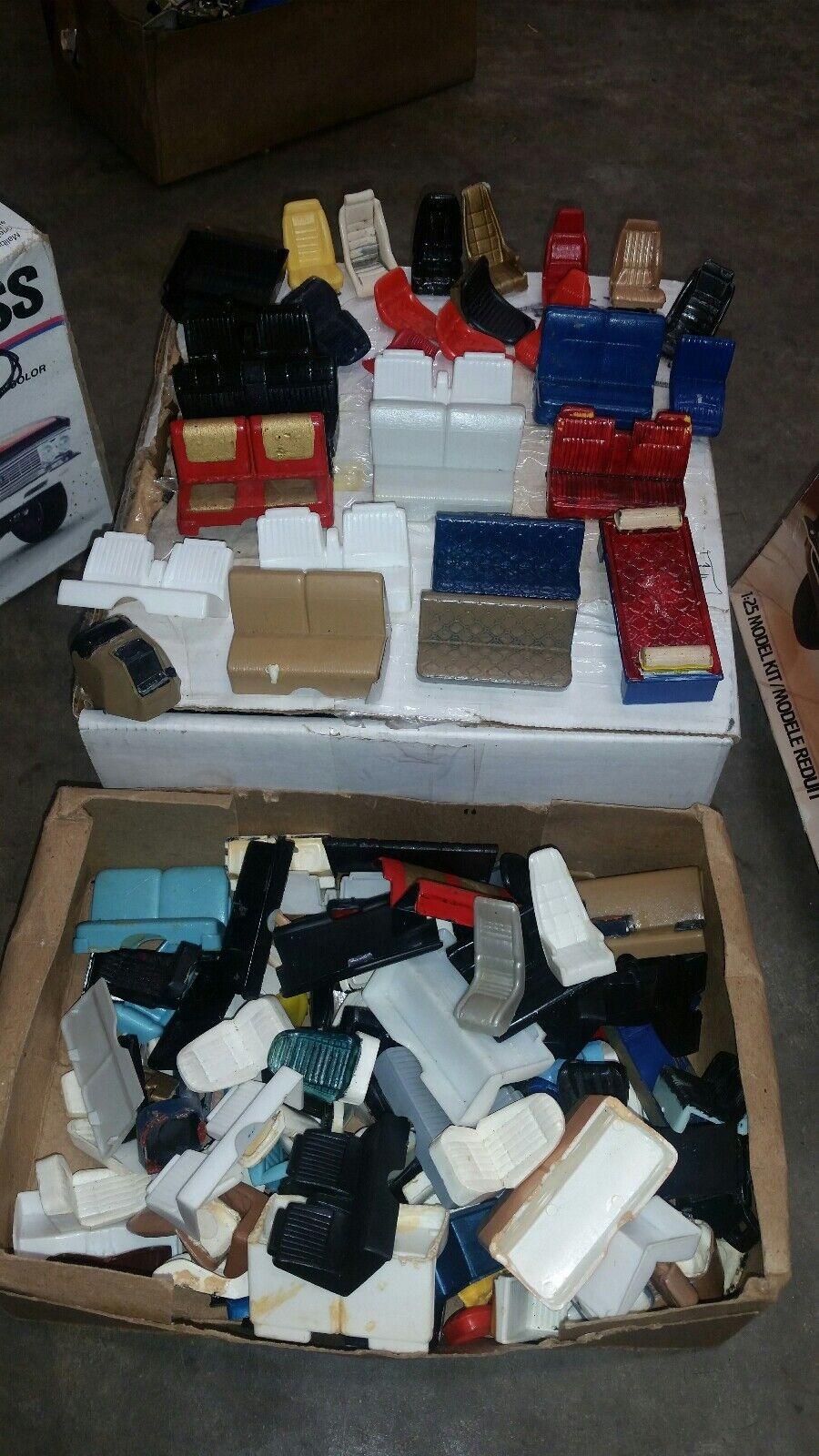 1 25 car model box FULL of seats