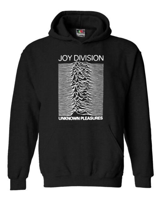 Felpa unisex Joy Division -100% cotone con cappuccio e stampa frontale