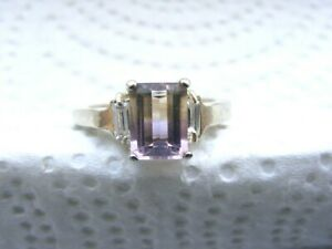 Vtg-Sterling-Silver-Light-Amethyst-Ring