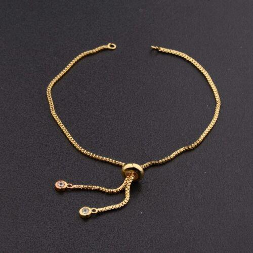 Fashion Femmes exquis Jolie Zircone Cubique Zircon Palm Breloque Connecteur Bracelets cadeau