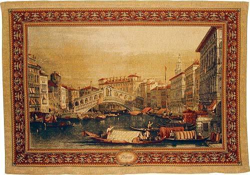 BELGIAN WALL TAPESTRY VENICE Ponte Rialto European City 54 x72