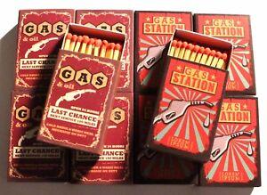 Lot de 4 Paquet 48 Allumettes Sûreté Feu Long Vintage 4 Motif 11x6x2 cm camping