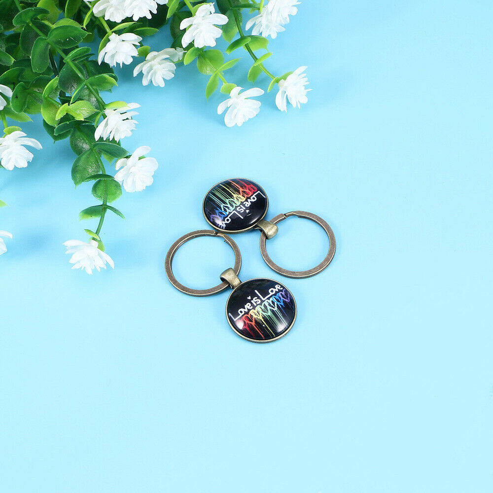 2 PCS Key Chain Alloy Pendant for Decoration Holiday Gift