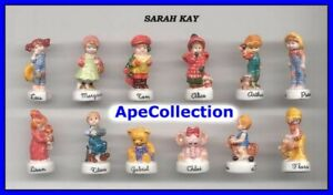 Sarah-Key-Raro-Set-12-Mini-Figuras-de-Porcelana-Coleccion-FEVES-Ceramica