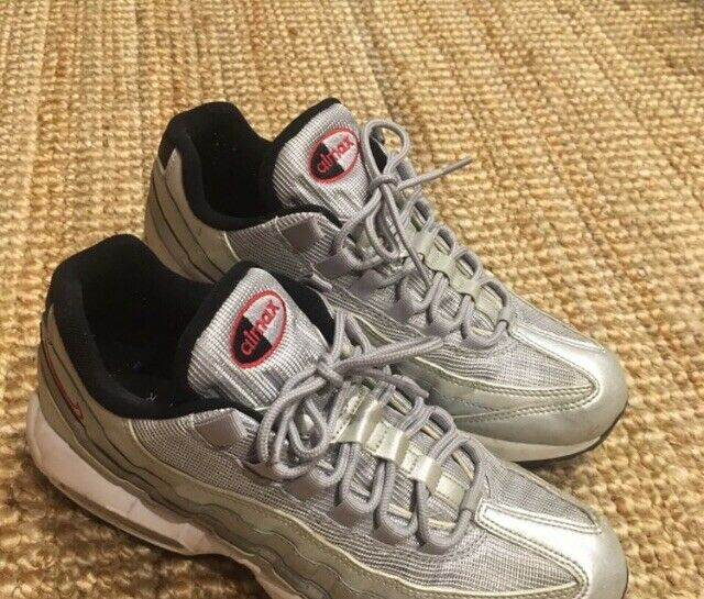 Nike Air Max 95 Premium QS Silver Bullet Metallic Silver University Red US8