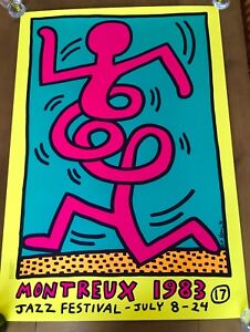 Frugal Keith Haring - Montreux Jazz Festival 1983 Yellow CaractéRistiques Exceptionnelles