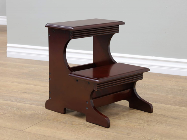 Wood Folding Step Stool Ladder Chair