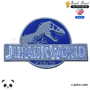 Jurassic-World-Movie-Video-Game-Embroidered-Iron-On-Sew-On-Patch-Badge