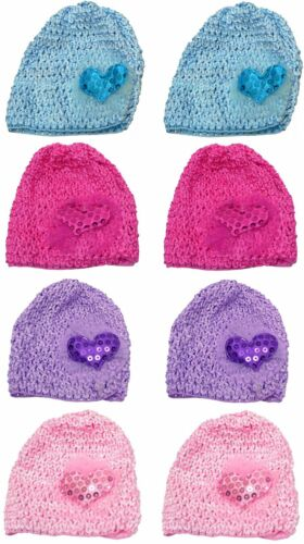 Bella Baby Stretchy Knitted Bonnets Hats in Set of 4 8 /& Dz Pk U16250-6411