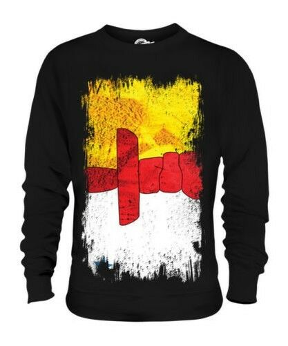 Nunavut Drapeau Grunge Unisexe Pull Cadeau Chemise Vêtements Pull-Over