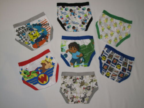 NWT multi character pack TODDLER BOY 7 briefs underwear size 2T 3T multi color